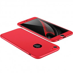 Hybrid 360 Degree Shockproof Case Protective Cover for Apple iPhone 7/8 - Red