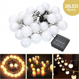 4.8m LED String Light Bulb 20 LED Lamp Beads Warm White Fairy Lamp