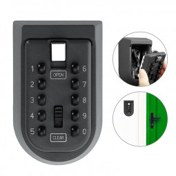 Wall Mounted Key Lock Box with 10 Digit Push Button Combination for Guests Tenants
