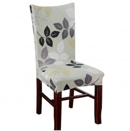 Removable Stretch Elastic Slipcovers Short Seat Chair Cover for Dining Room - Flower
