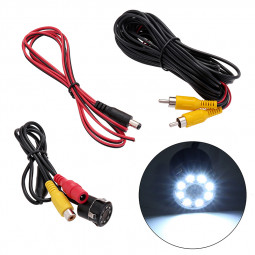8 LED Car Reversing Rear View Camera Backup Parking IR Night Vision Camera