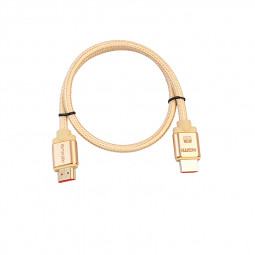 HDMI Cable 2.0 Gold-Plated Cotton Braided Aluminum Alloy Shell HDMI Plug Cable Cord- 1M