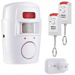Wireless PIR Motion Sensor Alarm 2 Remote Controls Home Garage Caravan