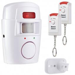 Wireless PIR Motion Sensor Alarm 2 Remote Controls Home Garage Caravan