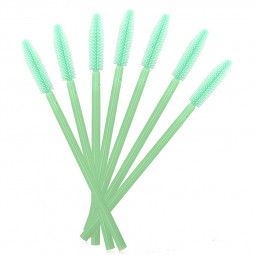 50PCS Disposable Eyelashes Brushes Silicone Wands Lashes Makeup Mascara Brushes - Green