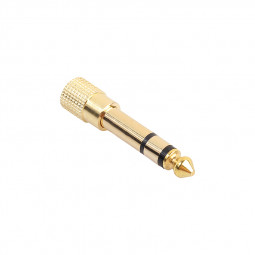 6.35mm (1/4 inch) Male to 3.5mm (1/8 inch) Female Stereo Jack Audio Mic Adapter Converter