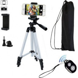 42 inch Aluminum Camera Tripod Stand Holder for Smartphone with Remote Control