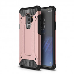 2 in 1 Hybrid Armor Rugged PC Back TPU Bumper Shockproof Case Cover for Samsung Galaxy S9 Plus - Rose Golden