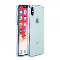 Slim Clear Soft TPU Silicone Gel Shockproof Case Back Cover Shell for iPhone X/XS - Blue