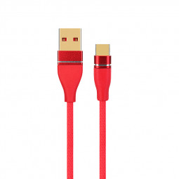 1M Type C Charger Cable USB 3.1 Ultra-Durable Data Charging Wire Cord - Red