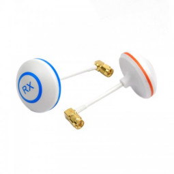Right Angle SMA Male 5.8G Mushroom Style Circular Polarized Antenna(Tx+ Rx)