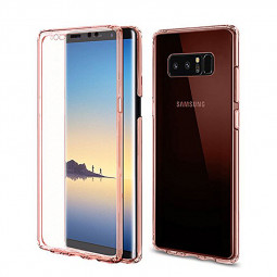 360 Degree Full Coverage Case Crystal Soft TPU Silicone Shockproof Cover for Samsung Note 8 - Rose Gold
