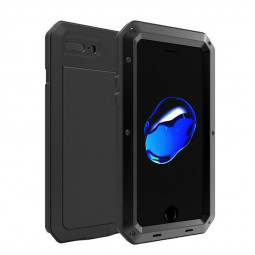 Full Body Shockproof Anti-SMetal Armor Case Cover Shell for iPhone 7/8 Plus - Black