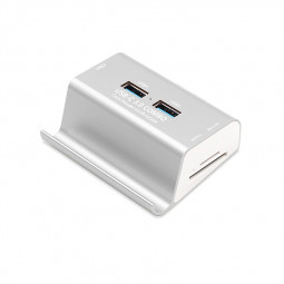 USB 3.0 Card Reader High Speed 3-Port USB-C 3.0 Hubs Combo Phone Holder