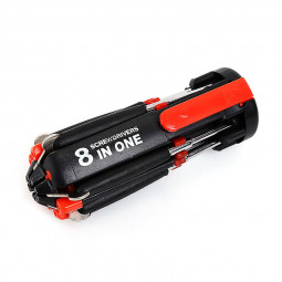 Home 8 in 1 Pocket Screwdriver with LED Light Multifunctional Repair Tools