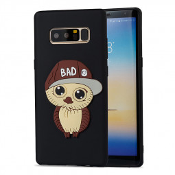 3D Cartoon TPU Case Soft Rubber Protective Case for Samsung Galaxy Note 8 - Black