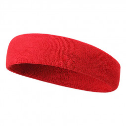 Unisex Sports Cotton Sweatband Headband Fashion Yoga Gym Stretch Hair Band - Red