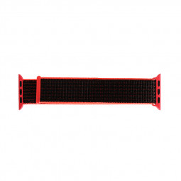 42mm Sports Nylon Wrist Band Watchband Strap Bracelet for Apple Watch - Pink + Black