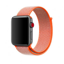 38mm Apple Watch Band Sports Loop Woven Nylon Watchband Strap for iWatch Series 3/2/1 - Orange