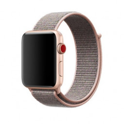 42mm Sports Nylon Wrist Band Watchband Strap Bracelet for Apple Watch - Pink