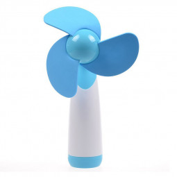 Mini Handheld Cooling Fan Super Mute Battery Operated Portable Cooler for Home Travel - Blue