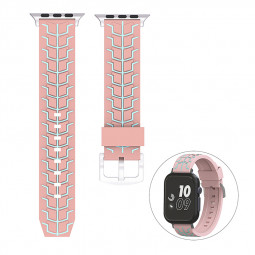 38mm Apple Watch Silicone Watchband Replacement Stylish Sports Bracelet Watch Wrist Strap - Pink