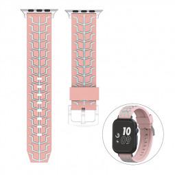 38mm Apple Watch Silicone Watchband Replacement Stylish Sports Bracelet Watch Wrist Strap - Pink
