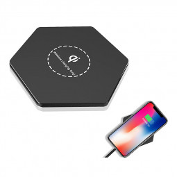 KD03 Qi Fast Wireless Charger Slim Thin Portable Charging Dock Pad - Black
