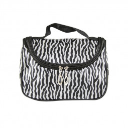 Fashion Waterproof Cosmetic Makeup Bag Pouch Protable Travel Toiletry Organizer Case - Zebra