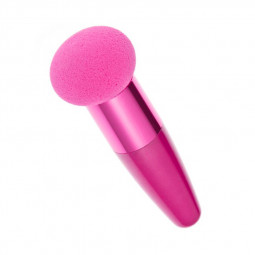 Cosmetic Make Up Brush Mushroom Head Sponge Brushes Makeup Beauty Tool - Rose Red