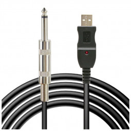 3M Guitar Bass to USB Link Audio Cable Adapter for PC/MAC Recording