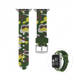 38mm Apple Watch Soft Silicone Watchband Breathable Sports Watch Wrist Strap - Green