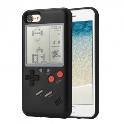 iPhone 7/8 Cases Retro Play Tetris Nintendo Gameboy Phone Case - Black