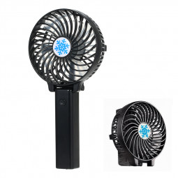 Handheld Mini USB Fan Built-in Battery Foldable Portable Desktop Table Cooler - Black
