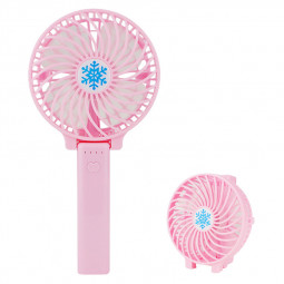 Handheld Mini USB Fan Built-in Battery Foldable Portable Desktop Table Cooler - Pink