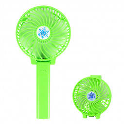 Handheld Mini USB Fan Built-in Battery Foldable Portable Desktop Table Cooler - Green