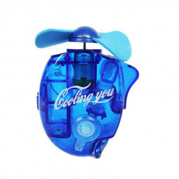 Mini Water Cooling Spray Fan Cool Air Fan Portable Handheld Gadget Sport - Blue