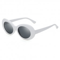 Retro Men Women Classic Sunglasses UV Protection Outdoor Sunglasses - White + Grey