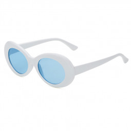 Retro Men Women Classic Sunglasses UV Protection Outdoor Sunglasses - White + Blue