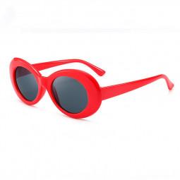 Retro Men Women Classic Sunglasses UV Protection Outdoor Sunglasses - Red + Grey