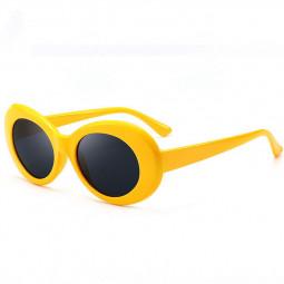 Retro Men Women Classic Sunglasses UV Protection Outdoor Sunglasses - Yellow + Grey
