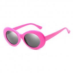 Retro Men Women Classic Sunglasses UV Protection Outdoor Sunglasses - Rose Red + Grey