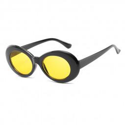 Retro Men Women Classic Sunglasses UV Protection Outdoor Sunglasses - Black + Yellow