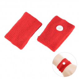 1 Pair Anti Nausea Morning Sickness Motion Travel Sick Wrist Band - Red