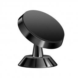 Universal 360 Degree Rotating Magnetic Dashboard Car Phone Holder Mount - Black