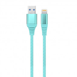 1M Braided Woven 8pin Charger Charging Data Cable Cord for iPhone iPad - Blue
