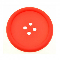 Button Cup Pad Mat PVC Tableware Heat Resistant Coaster Placemat kitchen Tool - Red
