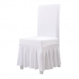 Universal Polyester Spandex Soft Stretch Chair Cover for Weddings Decoration Party - White