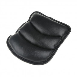 Luxury Soft PU Leather Car Auto Armrest Pillow Pad Mat - Black