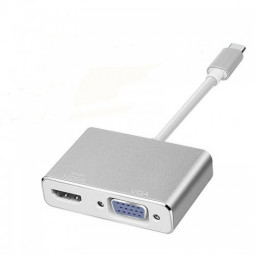Type C to HDMI VGA Adapter USB 3.1 Type C USB-C to VGA HDMI Converter for MacBook Samsung